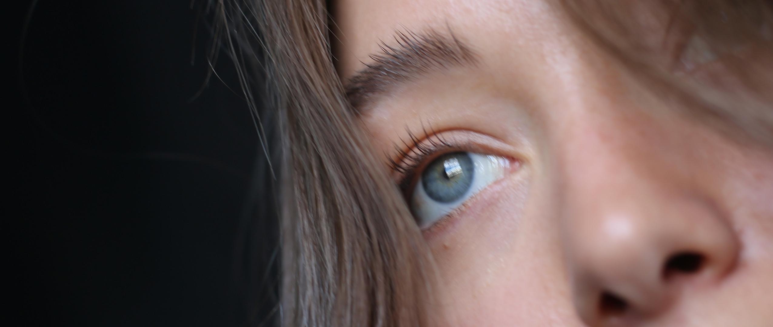 Close-up woman face