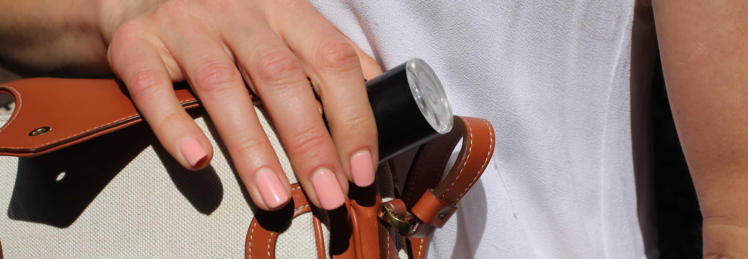 LYMA laser in handbag