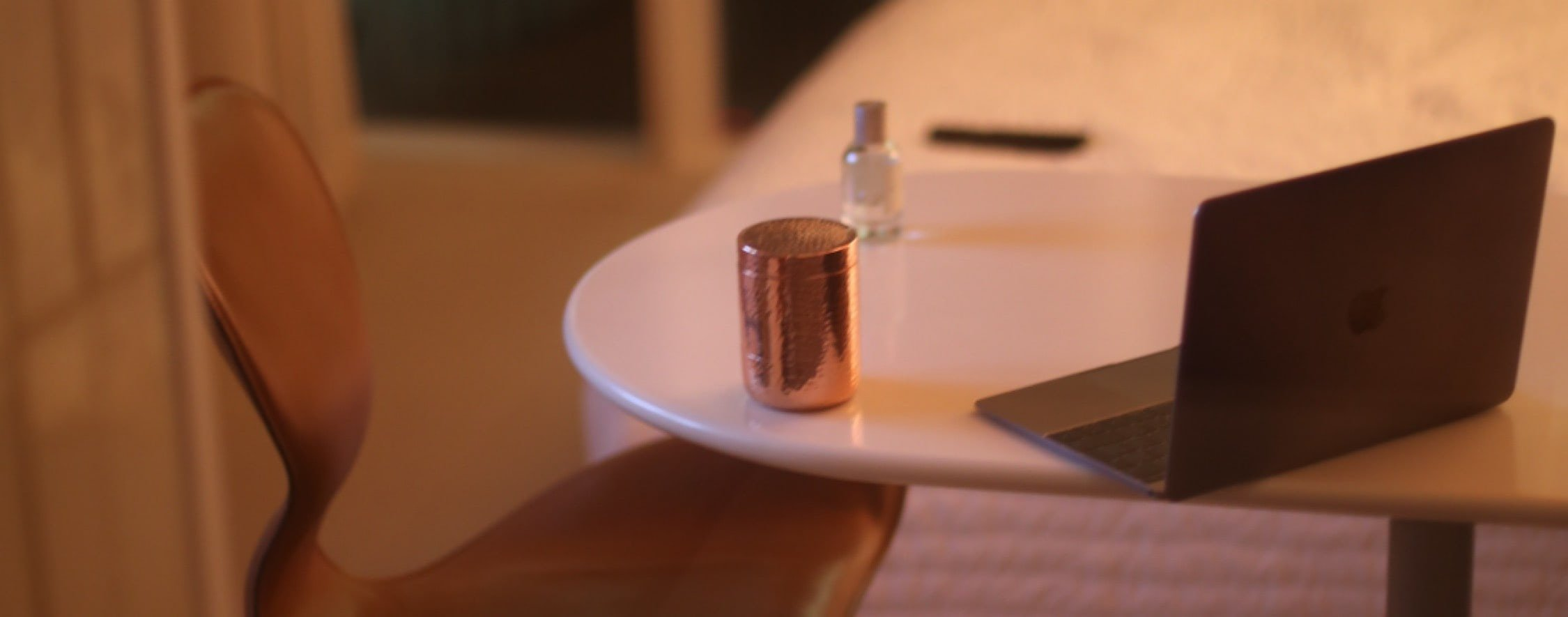 Table LYMA pills and copper vessel