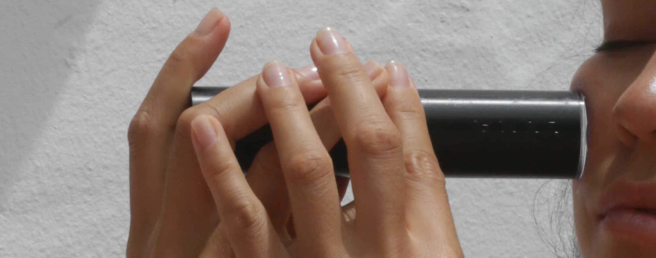 Hand laser cheek bone and under eye area