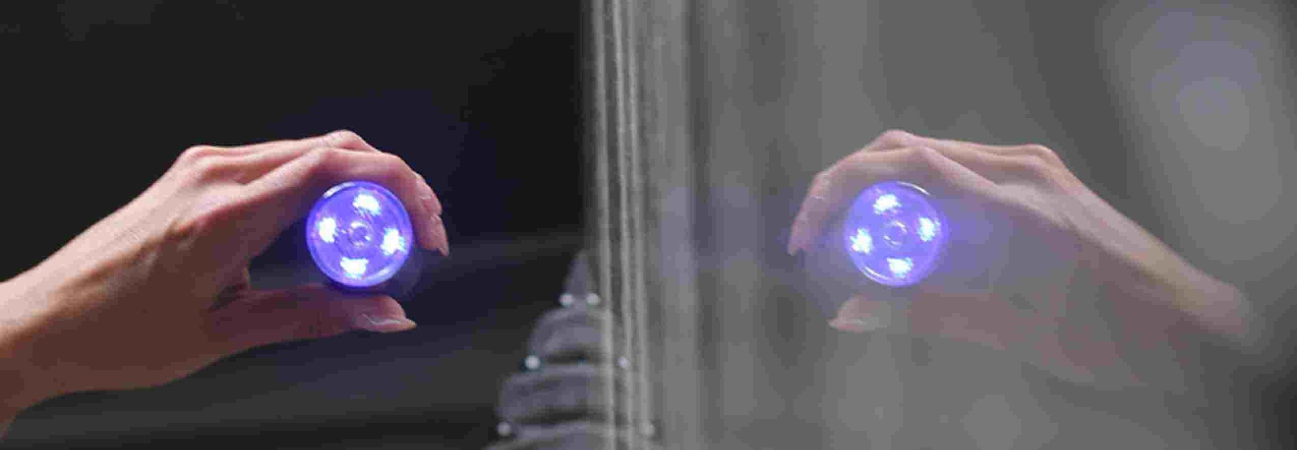 Laser in hand reflection