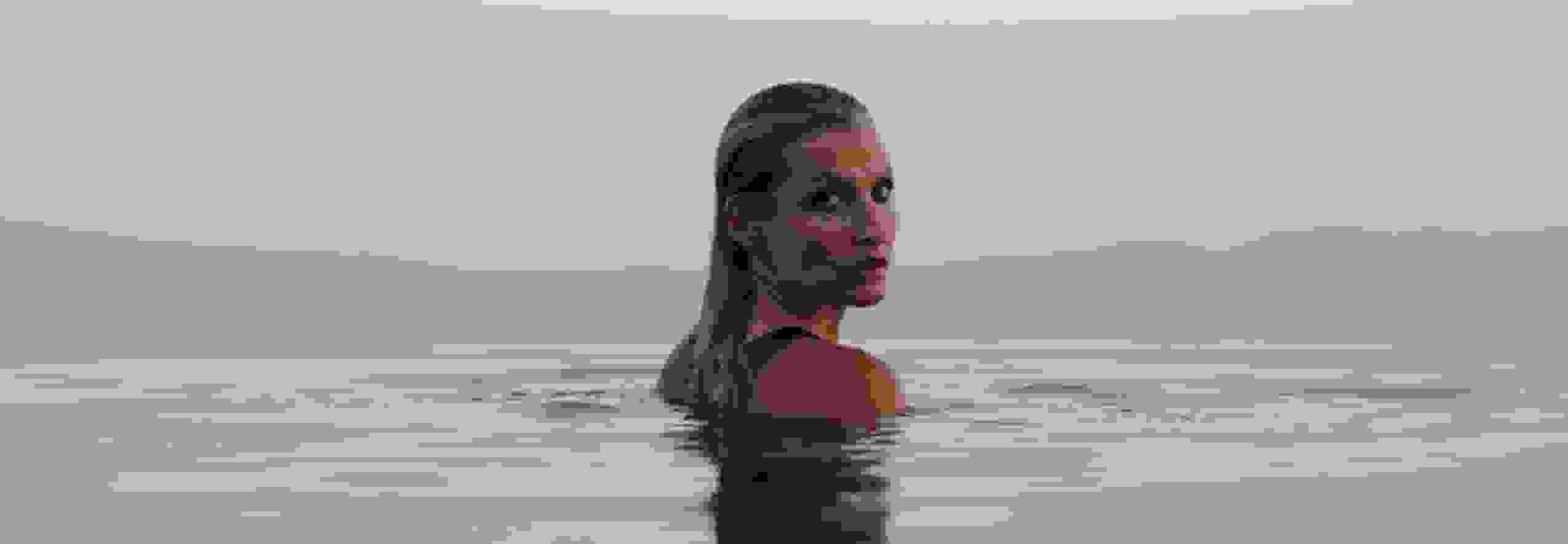 Woman in lake